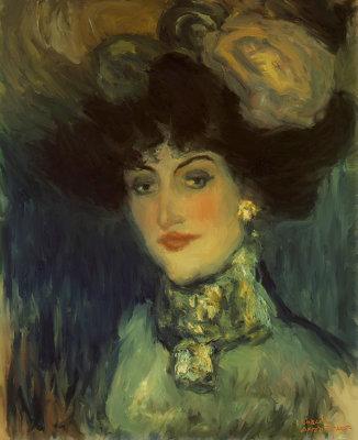 Femme au chapeau a plumes By Picasso