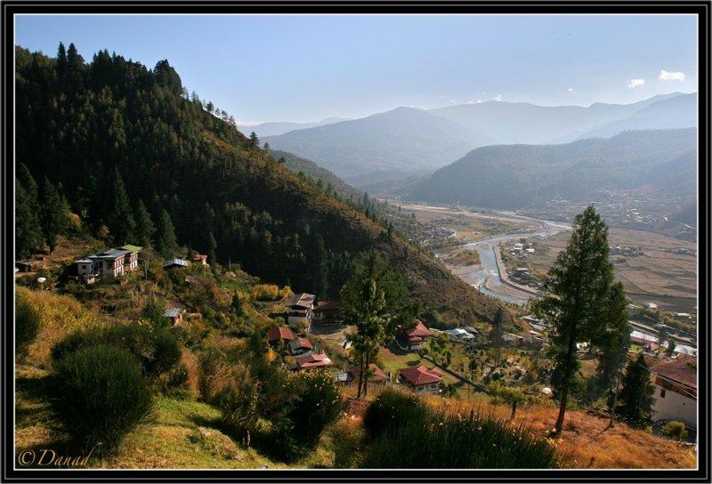 The Valley of Paro (West Bhutan).