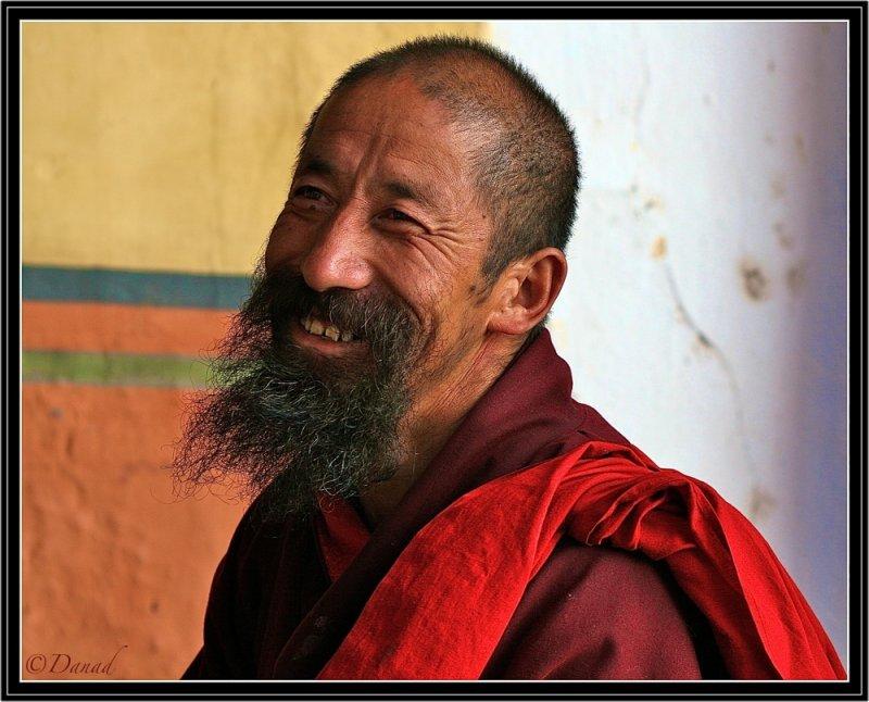 A Happy Monk.