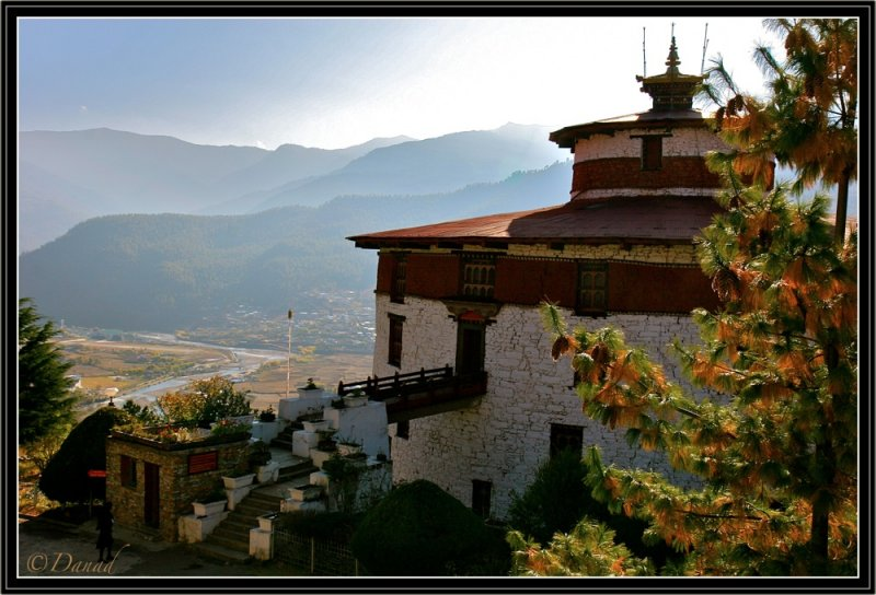 Paro Watchtower and Valley.