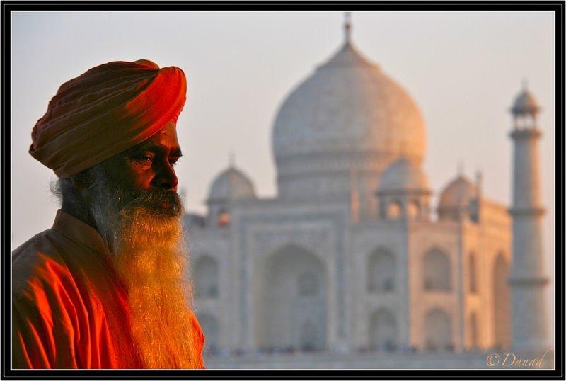 The Sage and the Taj. Agra.