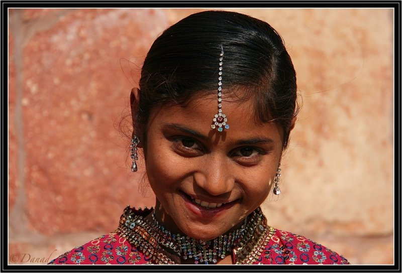 The Real Jewel is the Smile.  Red Fort - Agra.