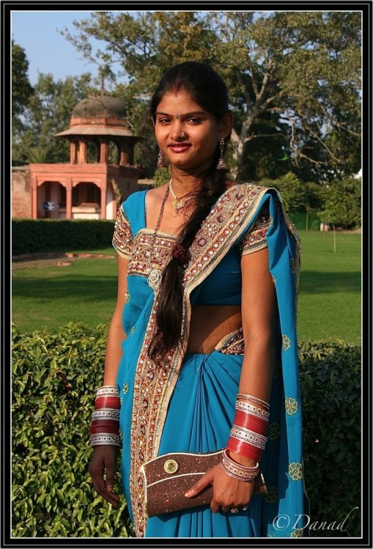 A Beauty in the Itimad-Ud-Daula Garden. Agra.