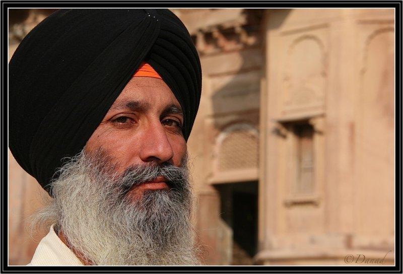 Portrait of a Proud Sikh. Bikaner Fort.