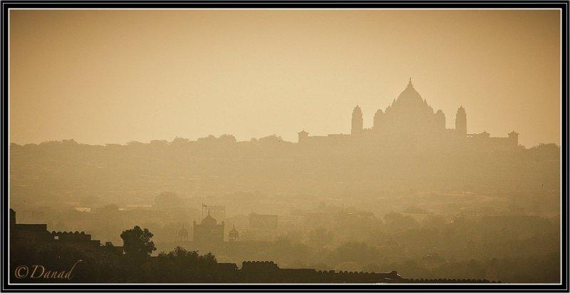 Morning light on Umaid Bhawan Palace. Jodhpur.