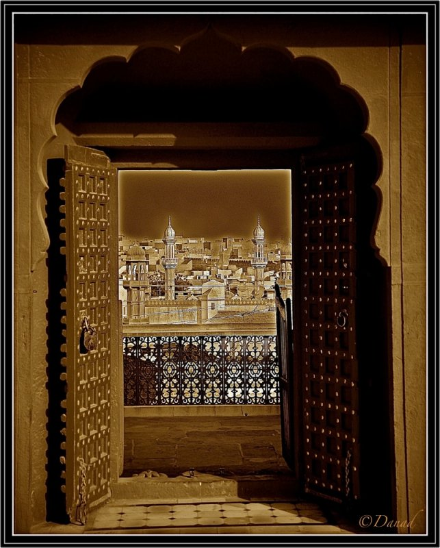A Door With a View. Bikaner (Triptych 3)