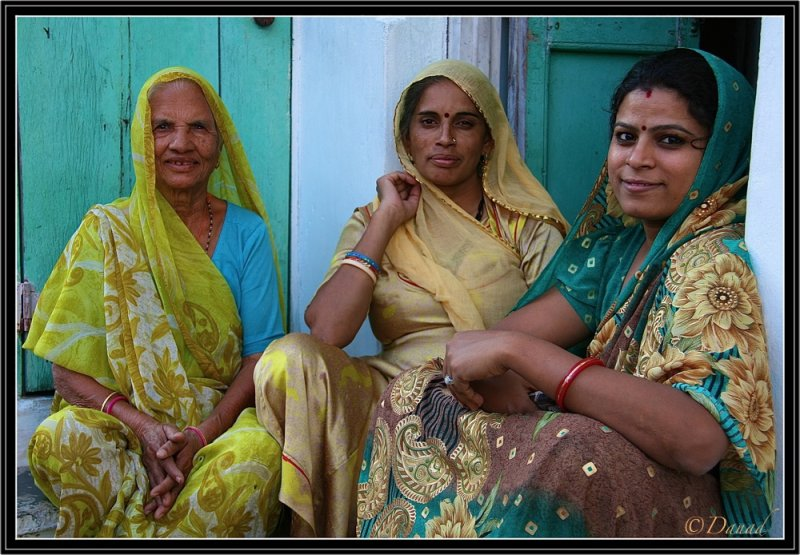 On the Threshold of their Home - Udaipur.