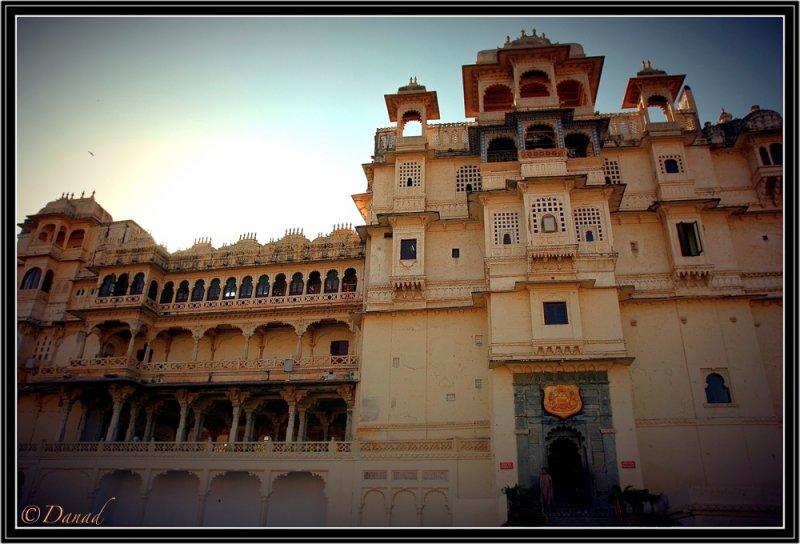 Maharajahs Palace Udaipur. Entrance.
