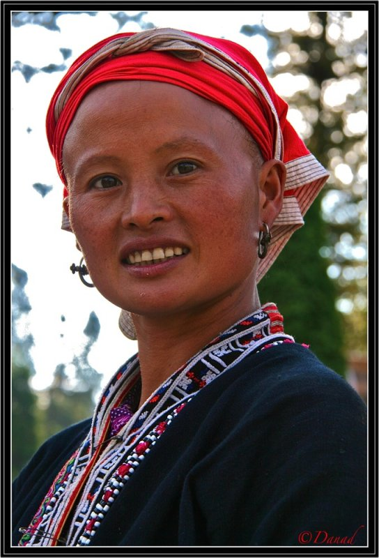 The smile of a Red Dzao. Sapa.