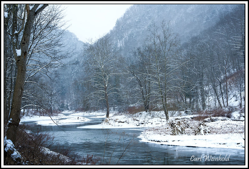 Pine Creek in shades of winter blue
