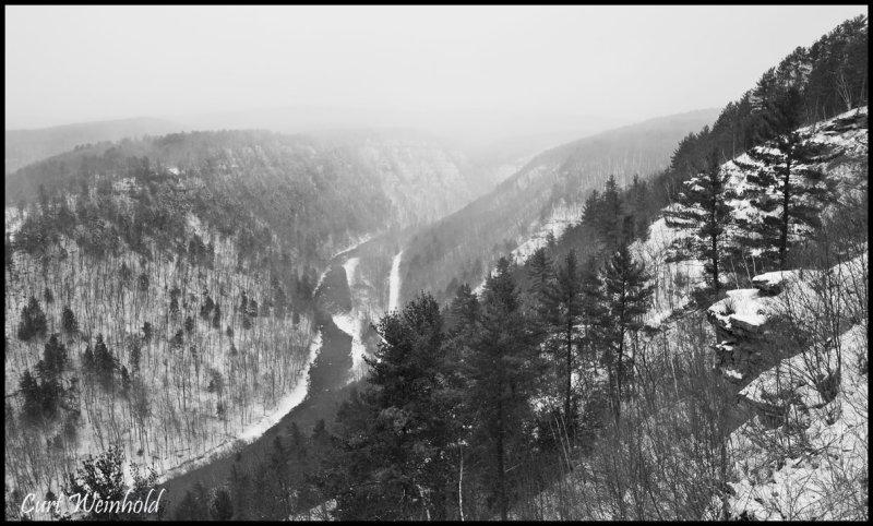 Canyon in B&W from Leonard Harrison St Pk