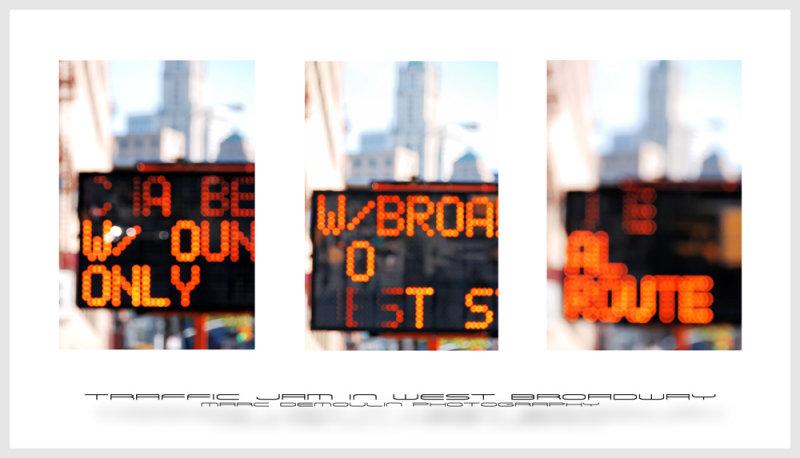 Traffic Jam in West Broadway