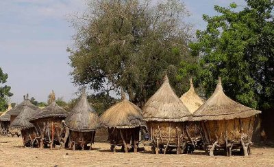 Granaries of a Mossi village near Manega, Burkina Faso