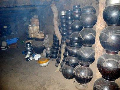 Inside a Lobi house. Room of the first wife, Burkina Faso