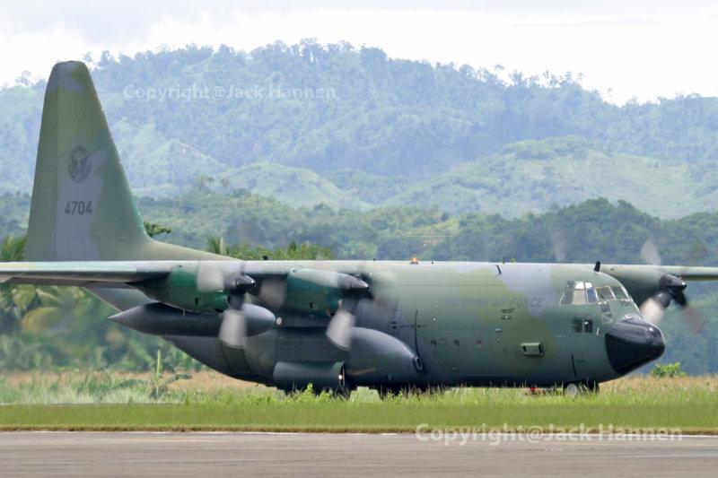 Philippine Air Force C-130H Hercules #4704.  Philippine Aviation