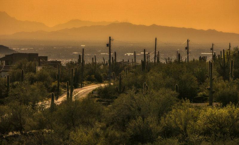 Sunset vista from Gold Canyon, Arizona, 2013
