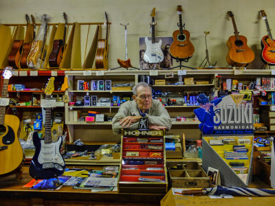 Music shop, Helena, Arkansas, 2012
