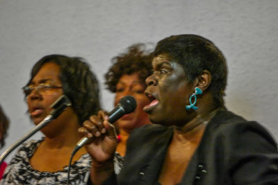Gospel singer, Greater First Baptist Church, West Helena, Arkansas, 2012