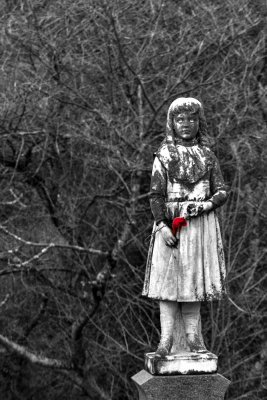 Bringing a ghost to life, Rose Hill Cemetery, Macon, Georgia, 2013