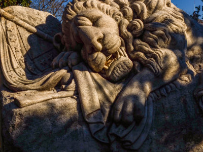 The Lion of the Confederacy, Oakland Cemetery, Atlanta, Georgia, 2013