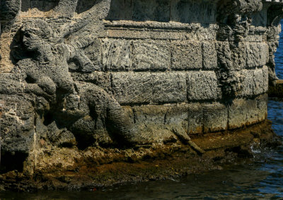 A barge of stone, Vizcaya, Miami, Florida, 2013