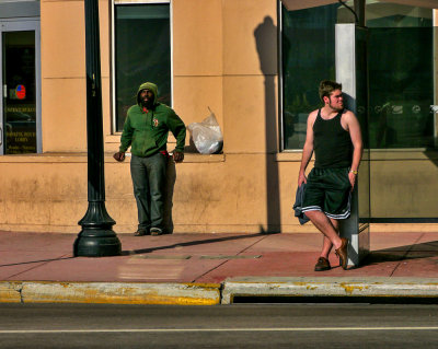 Bus stop, Miami Beach, Florida, 2013
