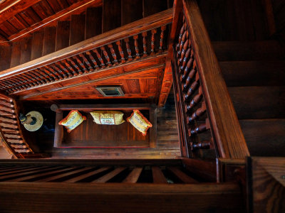 Stairwell, Koresham Utopian Community, Estero, Florida, 2013