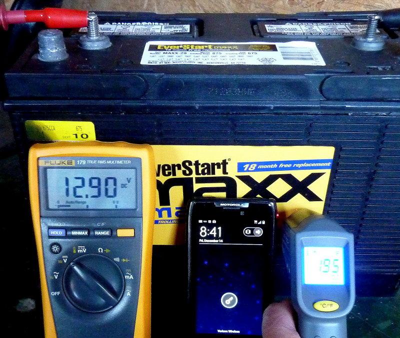 December 14, 2012 - Resting Voltage