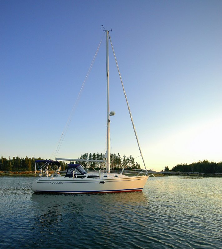 Anchored off of Coot Island