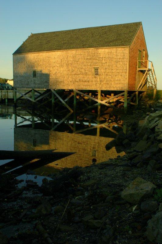 Sunrise On A Boat House
