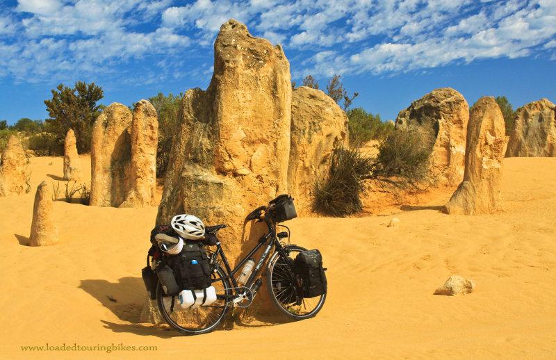 395    Mirjam touring Australia - Multicycle Extreme touring bike