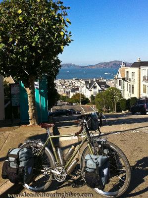 439    Krystal touring California - Trek 520 touring bike