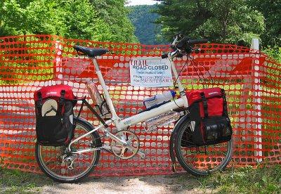 061  Don - Touring Pennsylvania USA - Bike Friday, New World Tourist touring bike