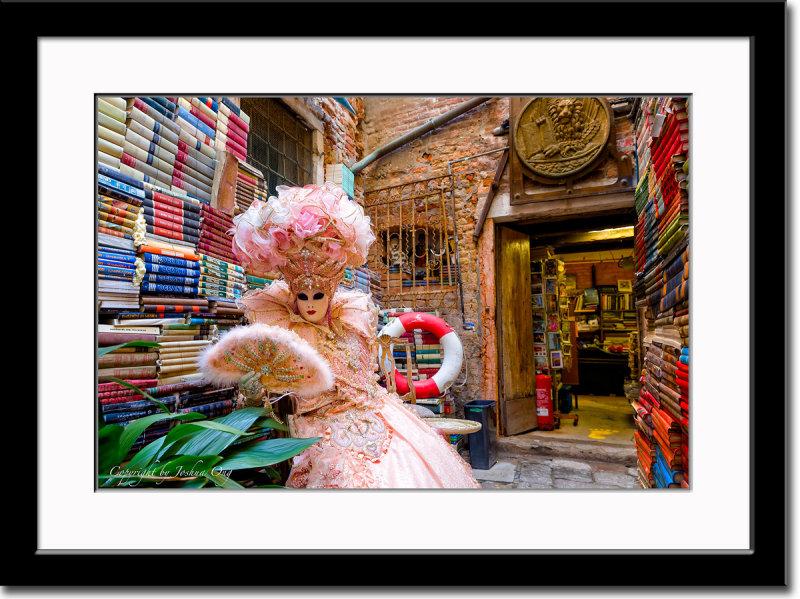 Solange in a Unique Bookstore