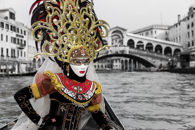 Anna Garusi During Venice Mask Carnival 2013
