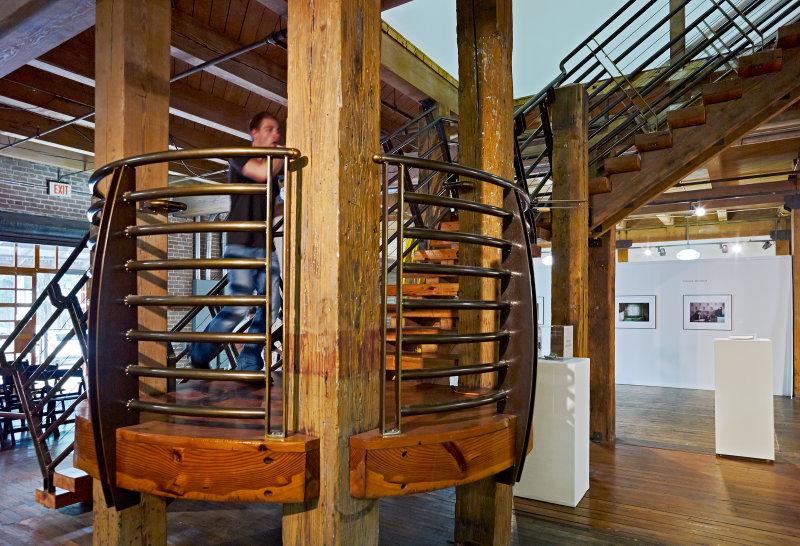 FotoFest HQ Biennial stairs