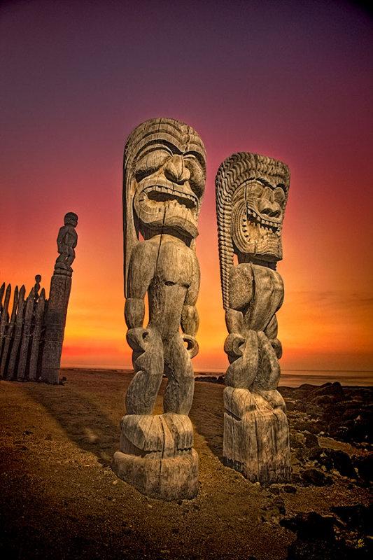 Tiki warriors