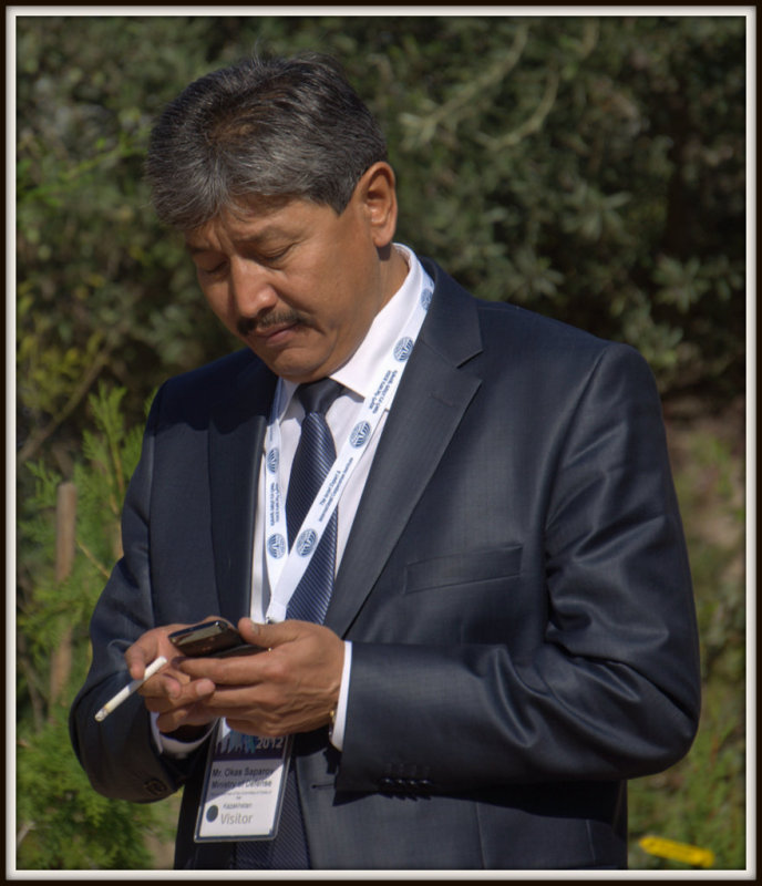 Visitor from Kazakhstan here in Israel to learn about Israels technology