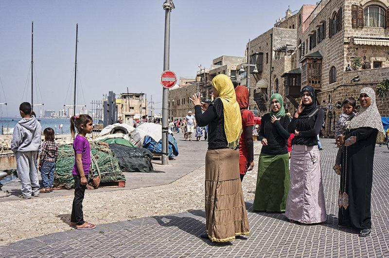 Arab Family at Jaffa Port.jpg