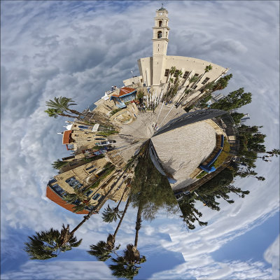 Old City of Jaffa as a Small Planet.jpg