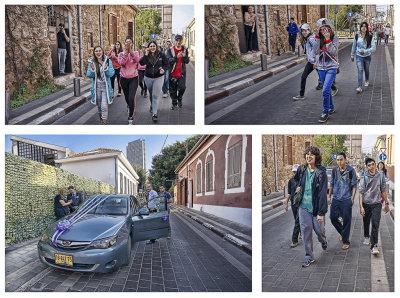 Teenagers Meet Wedding Party in Neve Zedek.jpg