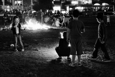 Lag BaOmer comes early for the younger children in the park where I live