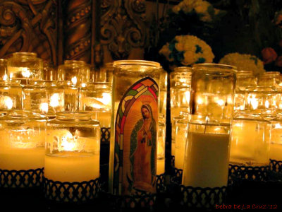 virgen de gudalupe candle light