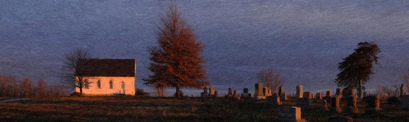 Zion Church Sunrise Panorama