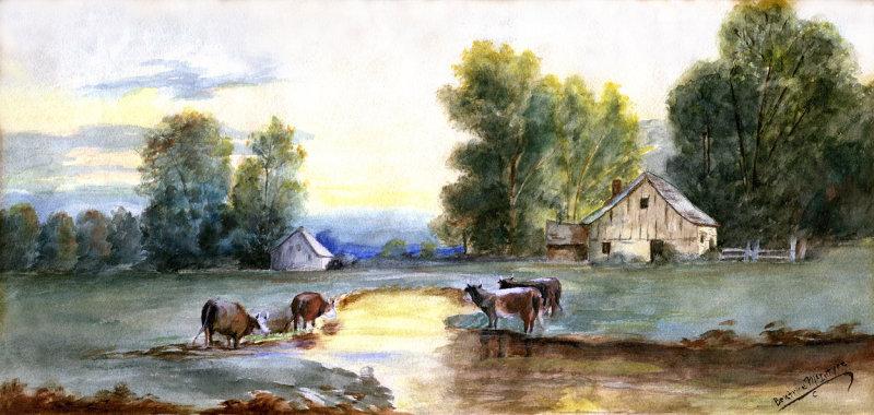 Beatrice McIntyre Farmstead Water Color