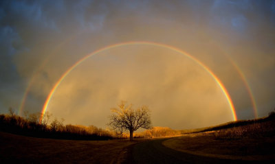 Rainbow at Elam Bend