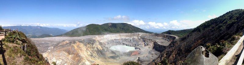 Poás Crater - Panoramic View
