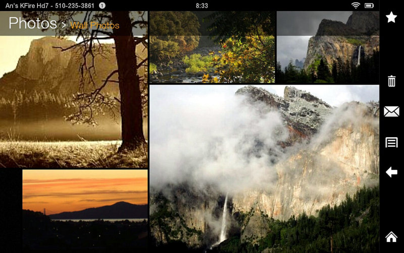 Screenshot of Kindle Fire HD 7 Facebook-Wall Photos Set