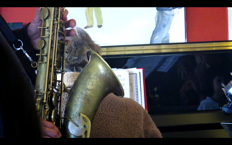 Saxophone and piano, and videoclip
