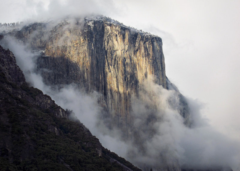 Tunnel View, storm clearing, El Capitan. 5/25/2012, 6:51pm.  #4555a